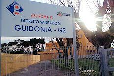 La sede del distretto Asl di Guidonia
