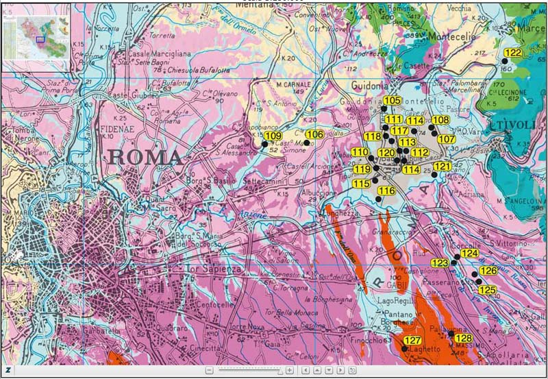 Il numero dei sinkhole registrati nel Lazio