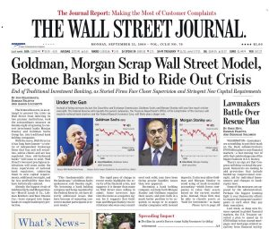 "Il ""crac"" sul Wall Street Journal"