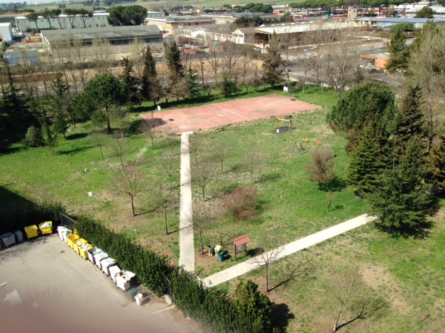 Una parziale panoramica del parco