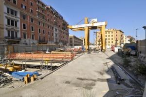 Il cantiere della metroC a Roma