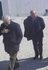 Francesco Zadotti e, dietro, Gianmario Baruchello all'Inviolata