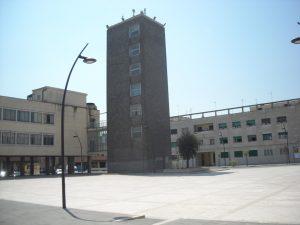 La piazza del Comune di Guidonia e la torre del fascio