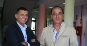 "Marco Bertucci, a sinistra, ed Eligio Rubeis: entrambi in tenuta ""laica""; sorridono entrambi..."