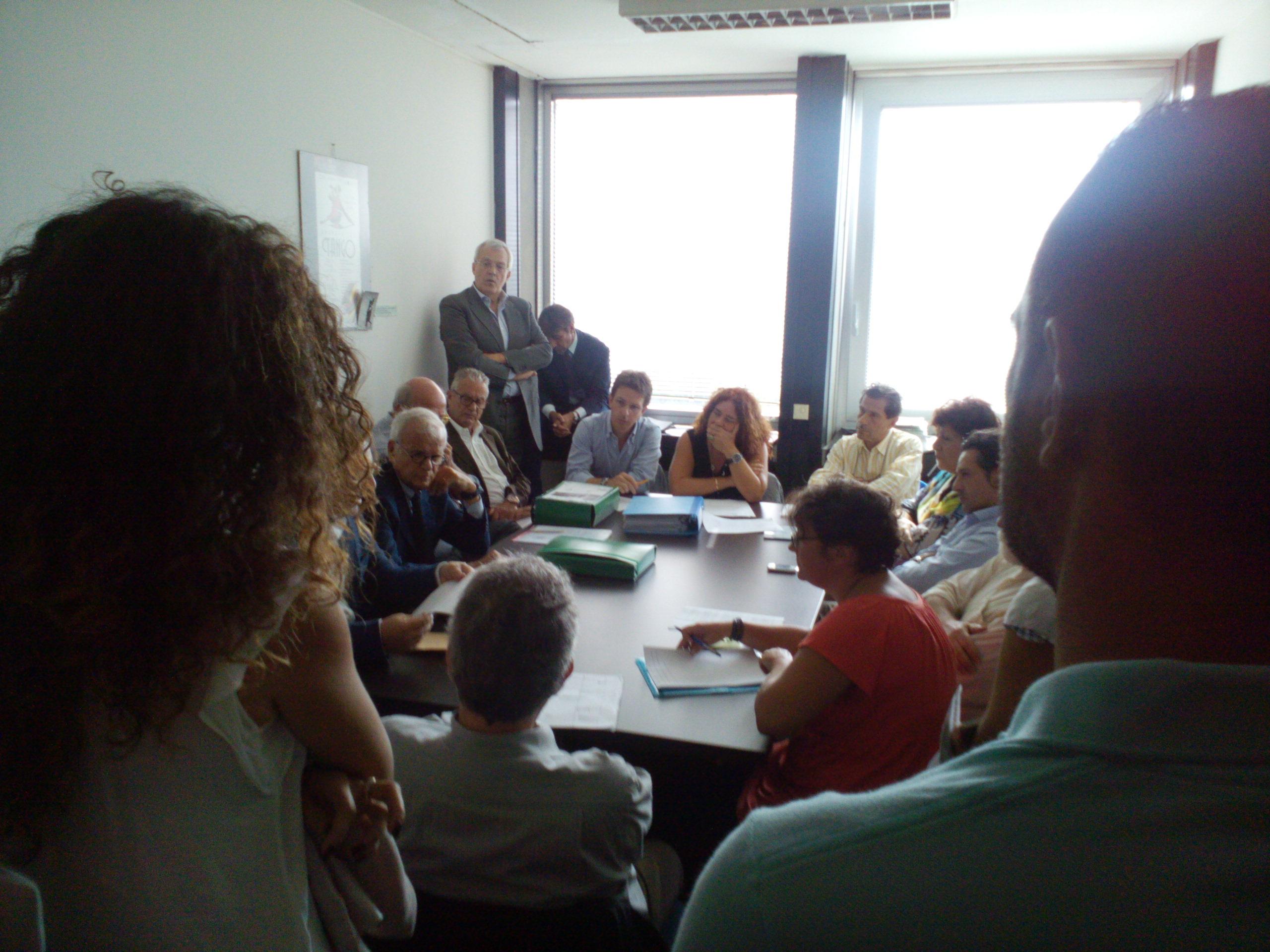 I partecipanti all'incontro di questa mattina in Regione