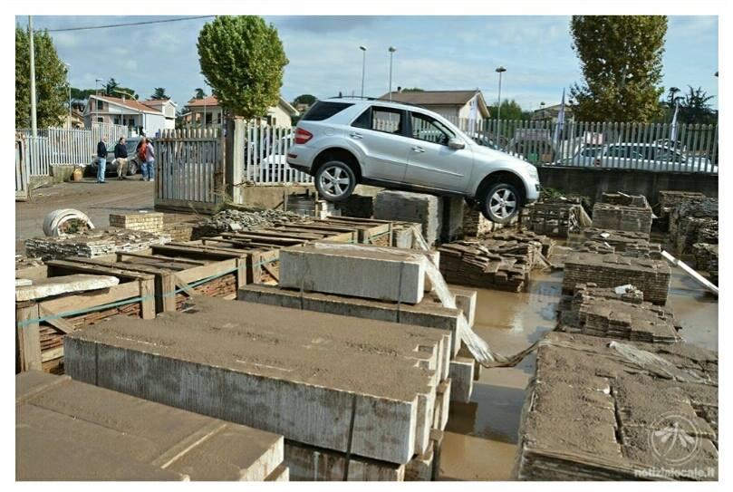 Le condizioni della zona dopo il disastro di ieri