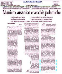 """Il """"Gazzettino"""" del 16 novembre"""