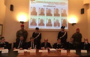 """Conferenza-stampa a Reggio calabria sull'""""operazione Silentes"""""""
