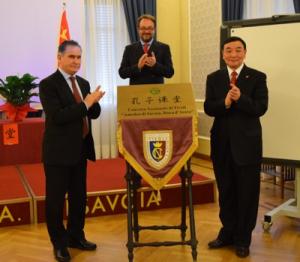Antonio Manna e il consigliere Luo Ping
