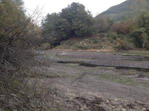 Le condizioni odierne del (l'ex) lago del Pertuso