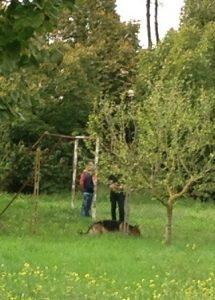 Gianluigi Marini e il presidente della onlus al parco