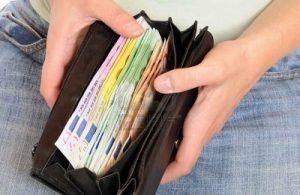 borsellino con soldi