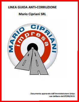 """Dal sito web della """"Mario Cipriani srl"""""""