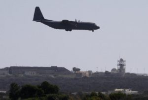 epa04418411 A British Royal Air Force  C-130 about to land at RAF Akrotiri, a British air base near Limassol, Cyprus 26 September 2014. In London the British parliament was voting to decide on military action in Iraq against ISIL and after a green light jets based on the island would be used to launch the offensive.  EPA/EPA/KATIA CHRISTODOULOU