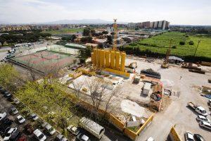 I lavori di costruzione della fermata Teano della metro